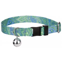 Green Paisley Cat Collar