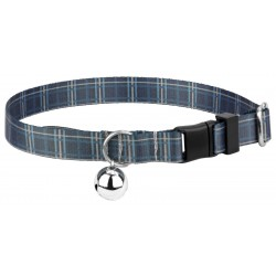 Navy Plaid Cat Collar