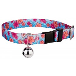 Pink April Blossoms Cat Collar
