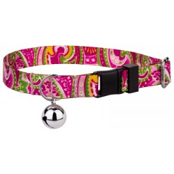 Pink Paisley Cat Collar