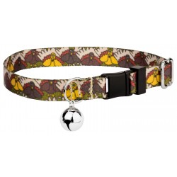 Pilgrim Turkey Featherweight Cat Collar