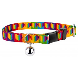 Rainbow Hearts Cat Collar