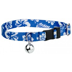 Royal Blue Hawaiian Featherweight Cat Collar