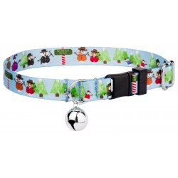 Snowman Party Featherweight Cat Collar