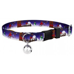 Winter Cardinal Featherweight Cat Collar
