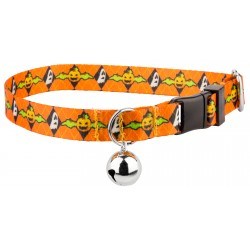 When Pumpkins Fly Featherweight Cat Collar