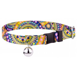 Yellow Boho Mandala Featherweight Cat Collar
