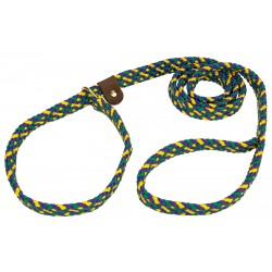 Lone Wolf Mardi Gras Flat Braided Rope Slip Lead, 6ft x 5/8in