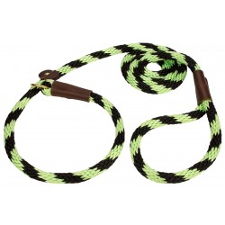 Lone Wolf Lime Twist Braided Rope Slip Lead, 6ft x 1/2in