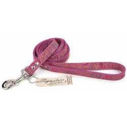 Omni Pet® Pink Paisley Leather Dog Leash - 4 Feet
