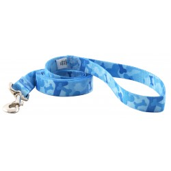 Patterned Polyester Leash - Blue Bone Camo (Various sizes available)