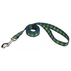 Blue and Green Plaid Dog Leash