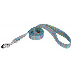 Cool Blue Plaid Dog Leash