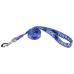 Blue Therapy Dog Leash
