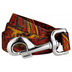 Fire Paisley Dog Leash