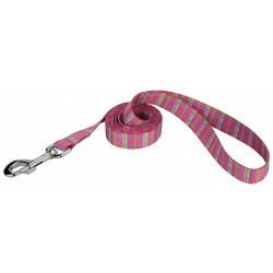 Bubblegum Pink Plaid Dog Leash