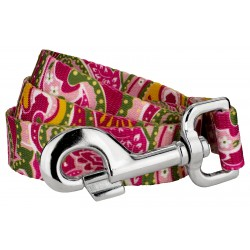Pink Paisley Dog Leash