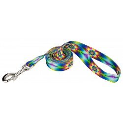 Tie Dye Flowers Dog Leash