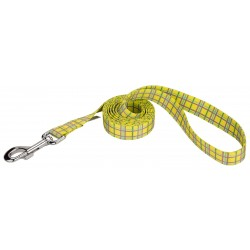 Banana Plaid Dog Leash