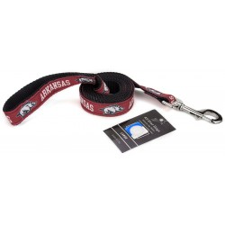 Arkansas Razorbacks Ribbon Dog Leash
