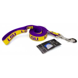 LSU Tigers Ribbon Dog Leash