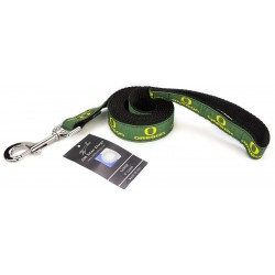 Oregon Ducks Ribbon Dog Leash