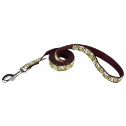 Baseball Ribbon Dog Leash