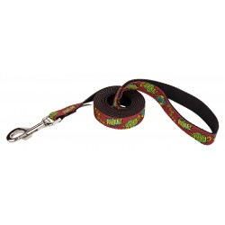 Red Super Dog Ribbon Leash