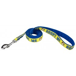 Yellow Adopt Me Ribbon Dog Leash - Closeout