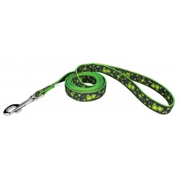 Clovers in the Wind Ribbon Double Sided Dog Leash