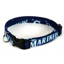 Deluxe Mariners Custom Designer Dog Collar - Large