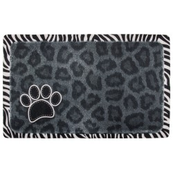 Black Leopard Pet Place Mats