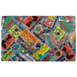 Grey Cool Dog Pet Place Mats