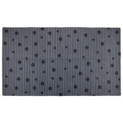 Grey Paw Stripe Pet Place Mats - 16x28