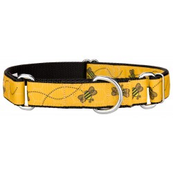 Busy Bee Ribbon Martingale Dog Collar