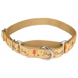 Happy Thanksgiving Ribbon Martingale Dog Collar Limited Edition