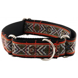 1 1/2 Inch Red Tapestry Woven Ribbon Martingale Dog Collar