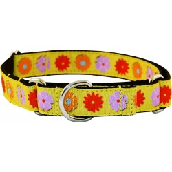 Spring Flowers Ribbon Martingale Dog Collar Limited Edition