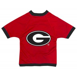 Georgia Bulldogs Athletic Dimple Mesh Dog Jersey
