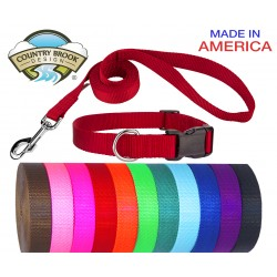 Deluxe Nylon Dog Collar and Leash