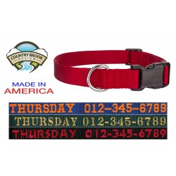 Personalized Custom Deluxe Nylon Dog Collar - Various Colors and Sizes Available