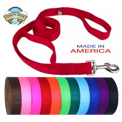 "25 - 4' x 1"" Heavyduty Doublehandle Nylon Leashes"