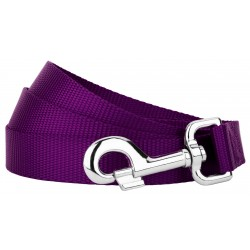 4ft By 1 Inch Heavyduty Doublehandle Nylon Leash - Purple