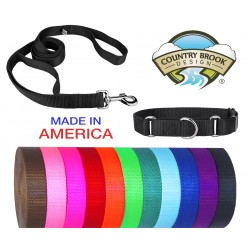 Martingale Heavyduty Nylon Dog Collar and Double Handle Leash