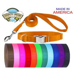 Premium Nylon Dog Collar and Leash