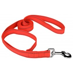 1 Inch Blaze Orange Reflective Nylon Double Handle Dog Leash