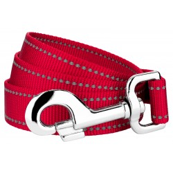 1 Inch Red Reflective Nylon Double Handle Dog Leash