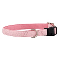 Pink Faux Leather Dog Collar Closeout