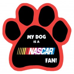 My Dog is a Nascar Fan! Paw Magnet