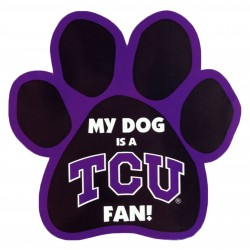 My Dog is a TCU Fan! Paw Magnet